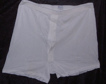 mens under pants vintage airtex cotton unused deadstock Sunspel XL made in England