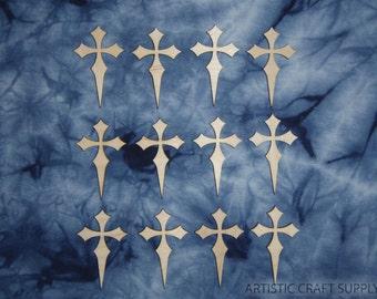 Wood Cross Unfinished Mini Wooden Crosses Cut Outs 12pcs  C02-002