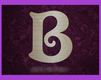 Unfinished Wood Letter B Wooden Letters 6 Inch Tall