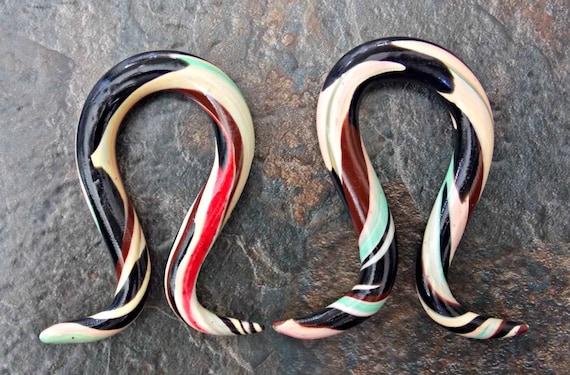 Custom Dangle Plugs Omega Ear Gauges Ear by FateAndNecessity