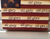 Primitive Americana Old Glory Mini Plaque