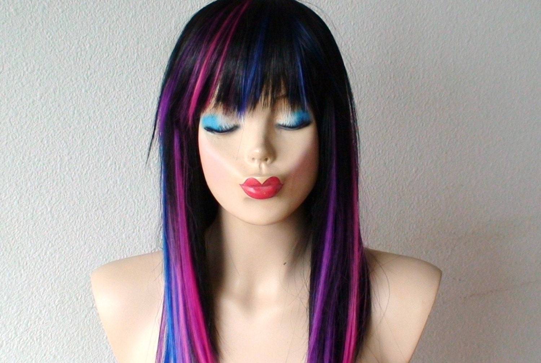 Black Hair With Pink And Blue HighlightsKata Kata Untuk Sahabat