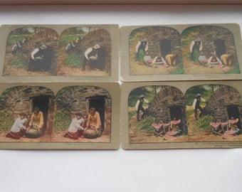 Vintage Black Memorabilia - Series of Four Stero Viewer Cards