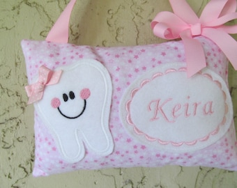 Tooth Fairy Pillow Pink Stars Toothfairy Pillow