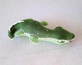 Waldorf soft toy crocodile baby safe stuffed animal