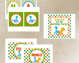 Lil Dino Birthday Party - Printable Party Package