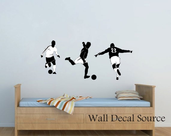 soccer wall decal football wall decal vinyl wall decal boys wall