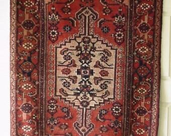 1960s Vintage Hamadan Persian Rug (1472)