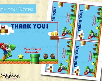 Super Mario Brothers Thank You Notes