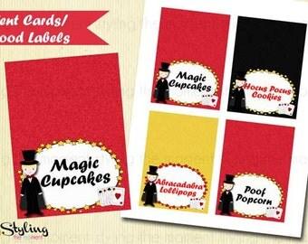 Magic Tent Cards Food Labels