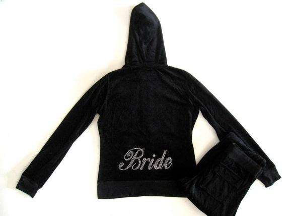 Velour Tracksuit Bride Bridesmaid Jacket Pant Set. Matron of Honor, Maid of Honor. Small, Medium, Large.