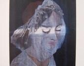 Fine art print of sensual original painting- giclee print of bride