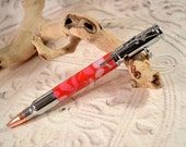 Bolt Action Pink Passion Camo Ballpoint Pen, Refillable Ballpoint Pen, Handmade Pen