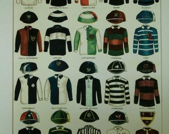 Print of English Soccer Shirts