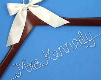 Personalized Wedding Hanger, Custom Bridal Hanger, Personalized Custom Bride Name Hanger, Bride Hanger, Bridal Shower Gift