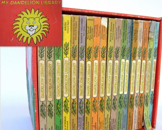 Vintage Dandelion Library 18 Book Set 36 Stories 2-in-1 Flip Children's Books