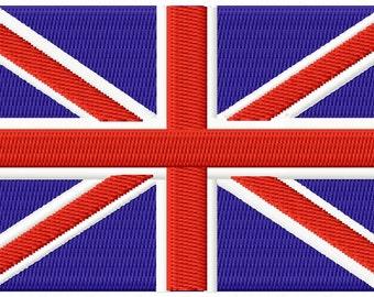 Union Jack Flag embroidery file
