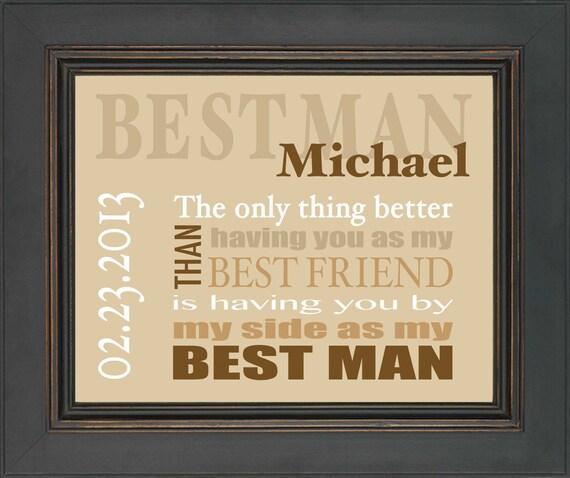Best Wedding Gift For My Best Friend : Best Man GiftWedding gift for Best ManPersonalized Best Friend ...