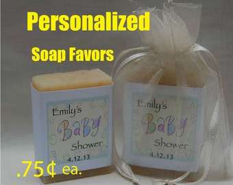 Baby Shower Favors - Party Favors - Baby Shower gifts - Personalized Soap Favors - 1 oz. handmade soap favors