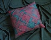 Lindsay tartan patchwork cushion