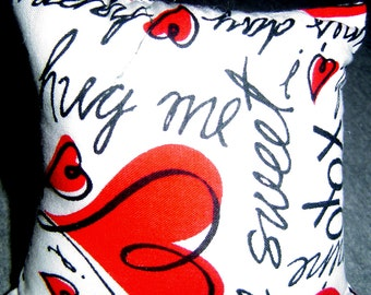 Hearts AndAnd Messages  Print Bean Bag