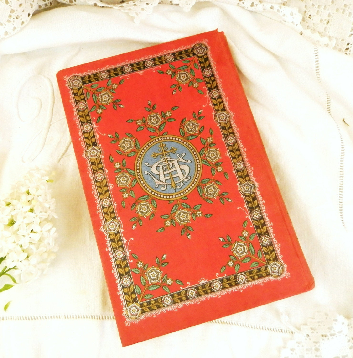 vintage home decor books vintage book with ornate cover country 11793