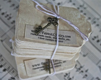 75 Grunge Stained Vintage Tags
