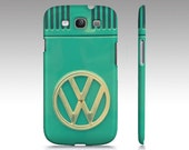 iPhone, iPod, Samsung Galaxy case, cover Teal retro vintage classic VW 60's 70's hippie hipster van bus camper