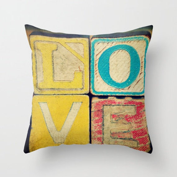 Old LOVE Art Pillow Case Cover Photography Vintage