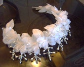 SALE  vintage handmade pearl and crystal tiara special occasion wedding princess tiara crown
