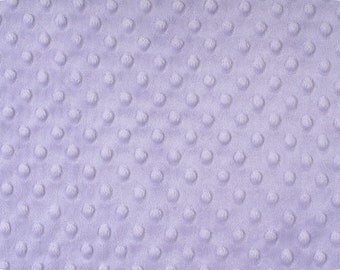 Lavender Cuddle Minky Dimple Dot  by the yard