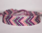 READY TO SHIP- Spring Fling- Chevron Friendship Bracelet
