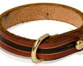 East Street: Handmade Brown and Black Leather Bracelet