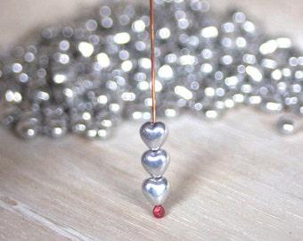 Czech Glass Heart Beads - 6mm 20 Pieces
