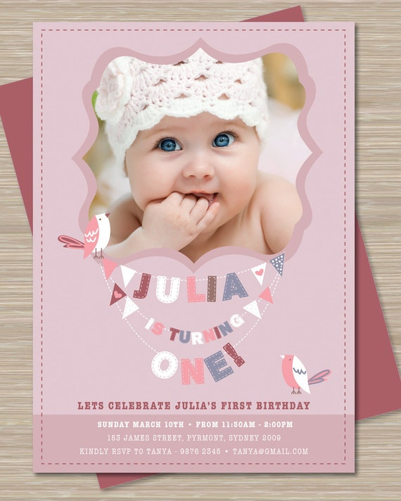 Items Similar To First Birthday Party Invitations, 1st