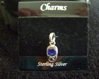 Sterling Silver Baby Booty Sapphire Charm