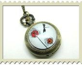 "Necklace pocket watch:  ""dandelion"""