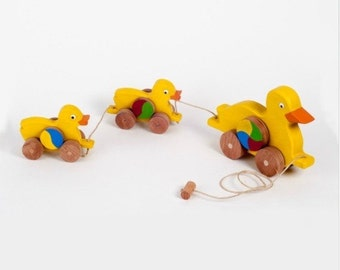 Wooden toys, toddler gift, wooden duck, gift for kids, kids toy, organic toy, wooden animal, kids animal toy, educational toy, waldorf toy
