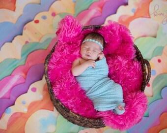 Daisy Halo-Light Aqua-Newborn to Adult