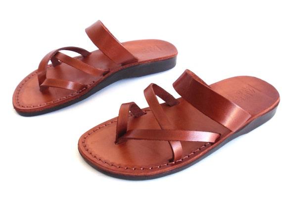 Cool Womenu0026#39;s Brown Leather Biblical Jesus Sandals Slip On Shoe Size US 5-10 EU 35-41 | EBay