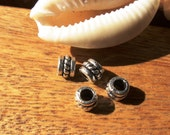 10pcs 2mm leather slider spacer finding silver color for leather cords