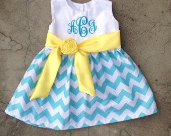 Girls Chevron Easter Dress Baby girl clothes Toddler Girl