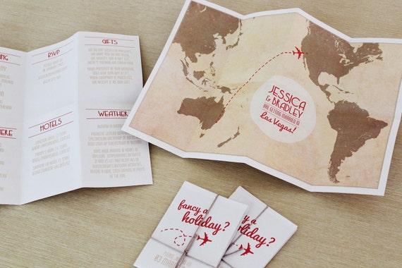 Print Map For Wedding Invitations: Travel Map DIY Printable Wedding Invitation By