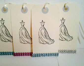 Popular items for wedding dress stamp on etsy for Wedding dress rubber stamp