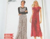 New Look One-Piece Dress Pattern 6897 - Misses' Long Jumper Dresses - Sz 8 to 18