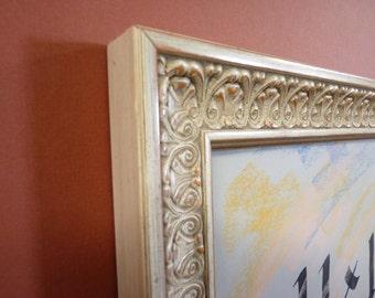white 11 x 14 picture frame  wood handmade plein aire art photo