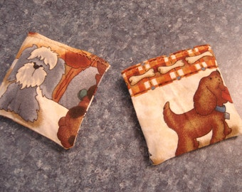 Doggy Patchwork Row Print Hand Warmer Corn Cozies