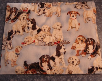 Dog Group Print Back Warmer Corn Cozie