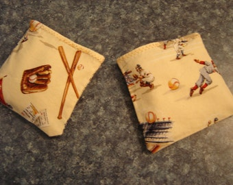 Baseball Equipment Print Hand Warmer Corn Cozies