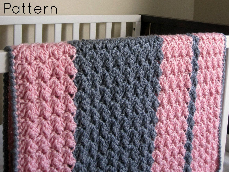 Chunky preppy baby reversible crochet blanket pattern zoom bankloansurffo Images